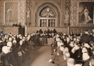 London House of Lords Peace Cooperation Conference Old Photo 1930