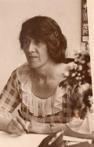 Portrait de Marie Stopes Paléobotanique Eugénisme Droits des Femmes Ancienne Photo 1930