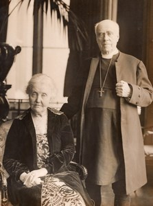 Anglican Archbishop Lord Davidson & Wife Edith Tait Old Photo 1930