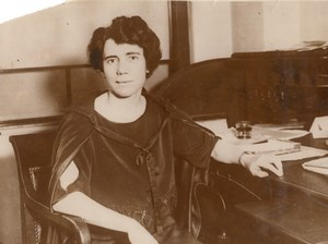 Sociologist Esther Everett Lape American Peace Award Old Photo 1930