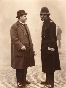 Londres Parlement Depute Policier Jack Hayes de Liverpool Ancienne Photo 1930