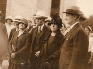 New Jersey Somerville Affaire Hall-Mills Meurtre Mme Hall et Avocats Ancienne Photo 1926