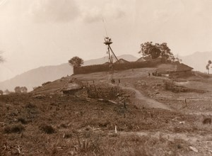 India Assam Naga Hills Mungsambi? Fort Old Photo 1930
