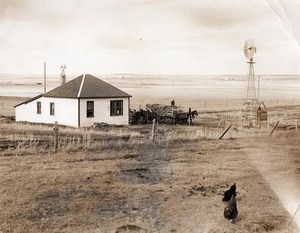 Canada Alberta Mr Gardner's Farm at Airdrie Countryside Farming Old Photo 1930