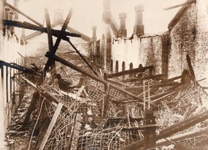 Columbus Ohio State Penitentiary Ruins Fire 317 dead Old Photo 1930