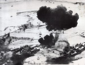 Korean War US Air Force American Napalm Bombing 2 Old Photos 1951