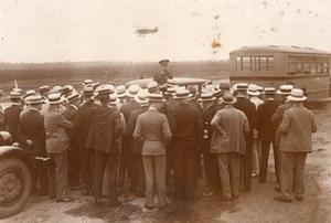 Groupe de Pittsburgh a l'aerodrome de Long Island Curtiss Airplane Co. Ancienne Photo 1928