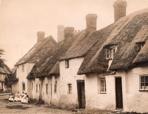 Buckinghamshire Long Crendon Pillow Lace Makers Village Street Old Photo 1930