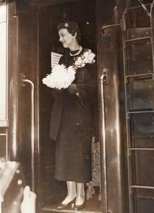Paris Princess Marina of Greece at Gare du Nord Duchess of Kent Old Photo 1934
