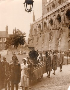 Winchester Cathedral Girl Farm Students Agricultural Festival Old Photo 1934