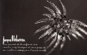 Photographic Greeting Card Jeweler Jacques Verhoeven Autograph Old Photo 1960's