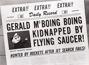 Old Photo from Gerald McBoing-Boing on Planet Moo Animated Short Film 1956