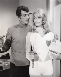 Actors Dean Martin & Senta Berger in The Ambushers Fencing Old Photo 1967