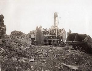 France Somme Serre Destruction par Troupes Britanniques Ancienne Photo 1914-1918