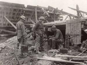France Thilloy Soldat Preparation du repas Front de l'Ouest Ancienne Photo 1914-1918