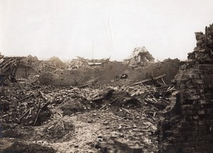 France WWI Somme Miraumont-le-Grand Houses Ruins Old Photo 1914-1918