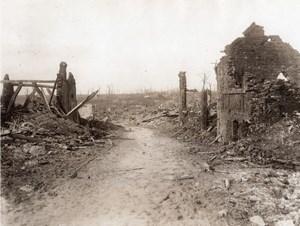 France Puisieux WWI Village en Ruines Ancienne Photo 1914-1918