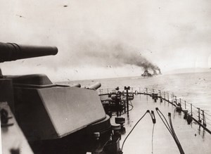 WWI British Navy Battleships Guns Old Photo 1914-1918