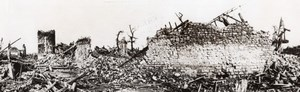 France WWI Western Front Ruins Scene of Desolation Old Photo 1914-1918