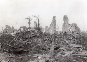 France Thilloy WWI British Western Front Churchyard Old Photo 1914-1918