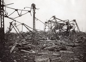 France Somme Pys WWI British Western Front Ruins Old Photo 1914-1918