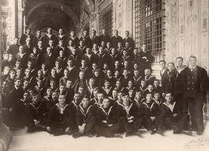 Italy WWI Group of British Sailors at the Vatican Old Photo 1914-1918