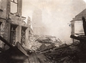 France Bapaume WWI British Western Front Church Ruins Old Photo 1914-1918