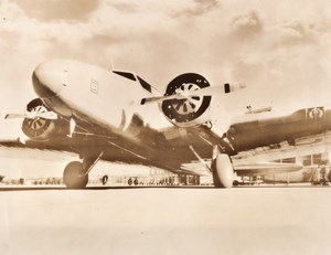 USA United Airlines Boeing 247 Airliner Lufthansa Aviation Old Photo 1930's