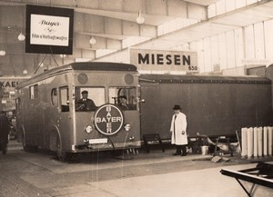 Germany Berlin Auto Show Miesen Bayer Truck Traveling Cinema Screen Photo 1930's