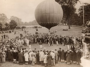 United Kingdom London Ranelagh Balloon Jumping Crowd Old Photo 1927