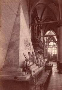 Italy Venice Venezia Canova Monument Old Photo 1890