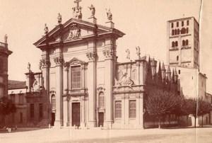 Italy Mantua Cathedral Mantova Cattedrale di San Pietro apostolo Old Photo 1890