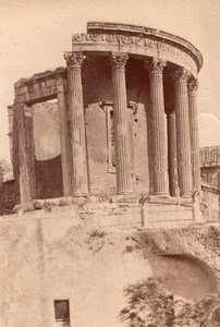 Italy Tivoli Tempio di Vesta Temple Old Photo 1890