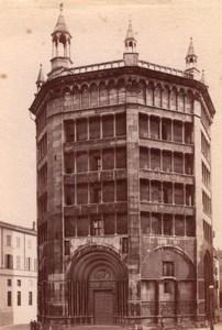 Italie Parme Parma Battistero Baptistère Ancienne Photo 1890