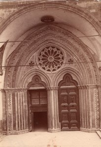 Italy Assisi Basilica of Saint Francis of Assisi Side entrance Old Photo 1890