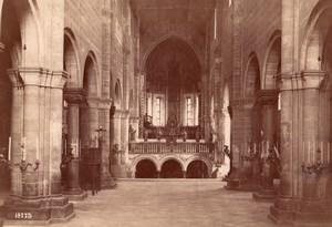 Italy Verona Basilica di San Zeno Interior Old Photo 1890