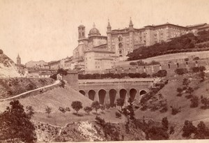 Italy Urbino General View Panorama Bridge Old Photo 1890
