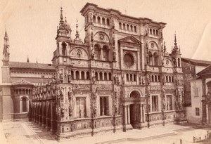 Italy Pavia Certosa di Pavia Monastery Church Façade Old Photo 1890