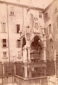 Italy Verona Monument Scaliger Mastino's tomb Old Photo 1890