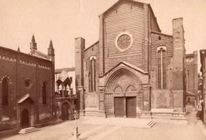Italy Verona Sant'Anastasia Dominican Church Old Photo 1890