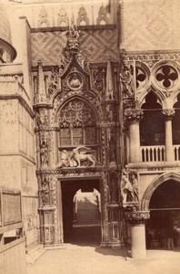 Italy Venice Venezia Porta della Carta Giovanni Bon Old Photo 1890