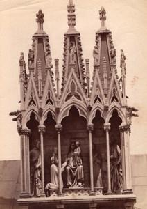 Italy Pisa Camposanto Gothic Tabernacle Pisano Old Photo 1890