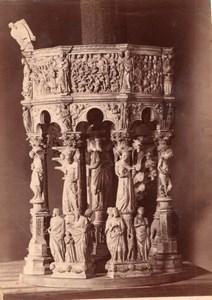 Italie Pise Pisa Cathedrale Chaire de Pisano Modele en bois Ancienne Photo 1890