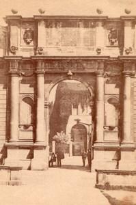 Italy Padua Padova Arco Vallaresso Arch Old Photo 1890