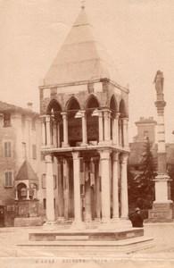 Italy Bologna Piazza San Domenico Tomb Rolandino de' Passaggeri Old Photo 1890