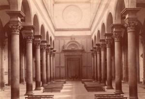 Italy Florence Firenze Basilica di Santo Spirito Interior Old Photo 1890