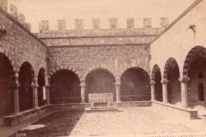 Italy Florence Firenze Castello di Vincigliata Castle Cloister Old Photo 1890