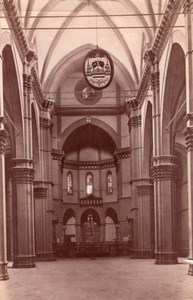 Italy Florence Firenze Cathedral Interior Arnolfo di Cambio Old Photo 1890