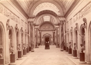 Italy Rome Roma Vatican Museum Sculpture Gallery Old Photo 1890