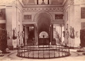 Italy Rome Roma Vatican Museum Sala a Croce Greca Old Photo 1890